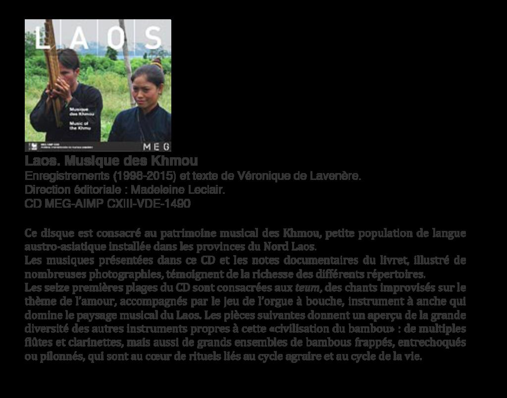 Laos Musique des Khmou CD Véronique de Lavenère-1